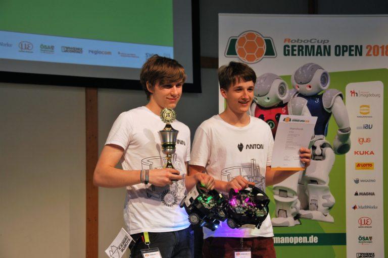 Siegerehrung RoboCup 2018